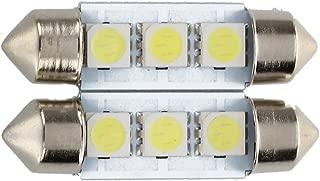 2x C5W 3 LED SMD 5050 34 millimetri bianco xeno piastra lampadina navetta festoni cupola plafoniera della luce auto R luce dellautomobile TOOGOO
