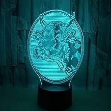 Nuit Lumi/ère Illusions Optiques 3D LED Lampe Vache de 7 Couleurs Tactile Chevet Chambre Table Art D/éco Enfant avec Cable USB pour Fille Fils Cadeau Anniversaire Surprise Deco Cr/éatif Veilleuse
