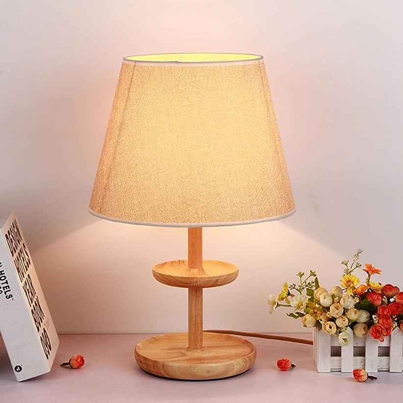 ポンペイ稼ぐバンジージャンプMiyabitors 北欧のシンプルなテーブルライト、多機能創造E27木製のテーブルランプ、現代の寝室のベッドサイドの照明、暖かいロマンチックなリビングルームランプ (Color : B)