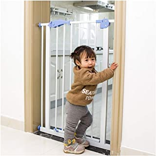 Baby Gate Fence Pet Fence Isolation Door Baby Gates for Stairs Baby Free Punching Dual Lock Self Closing