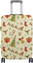 Christmas Socks Lollipop Tree Gift Box Vector Suitcase Cover Elastic Suitcase Cover Zipper Luggage Case Removable Cleaning Suitable For 29