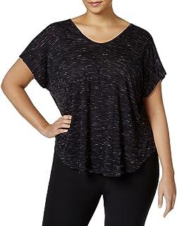 Calvin Klein Women's Plus SizeSpacedye Jersey Tee with Inner T-Back Size