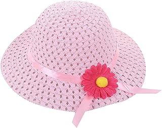 DZT1968          - Sombreros de Verano para la Cabeza, el Cuello, los Ojos, la Playa, el Sol, con diseño de Flores y Paja, para Todo el día