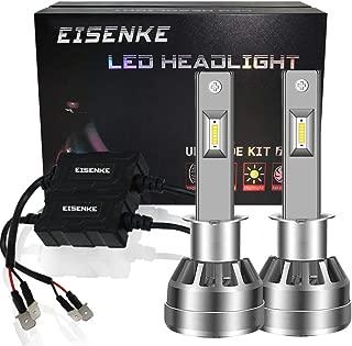 EISENKE H1 Led Headlight Bulbs For auto Cars Super Bright Conversion Kit Headlamps high beam low Beam 40W 8000lm 6000K Xenon white