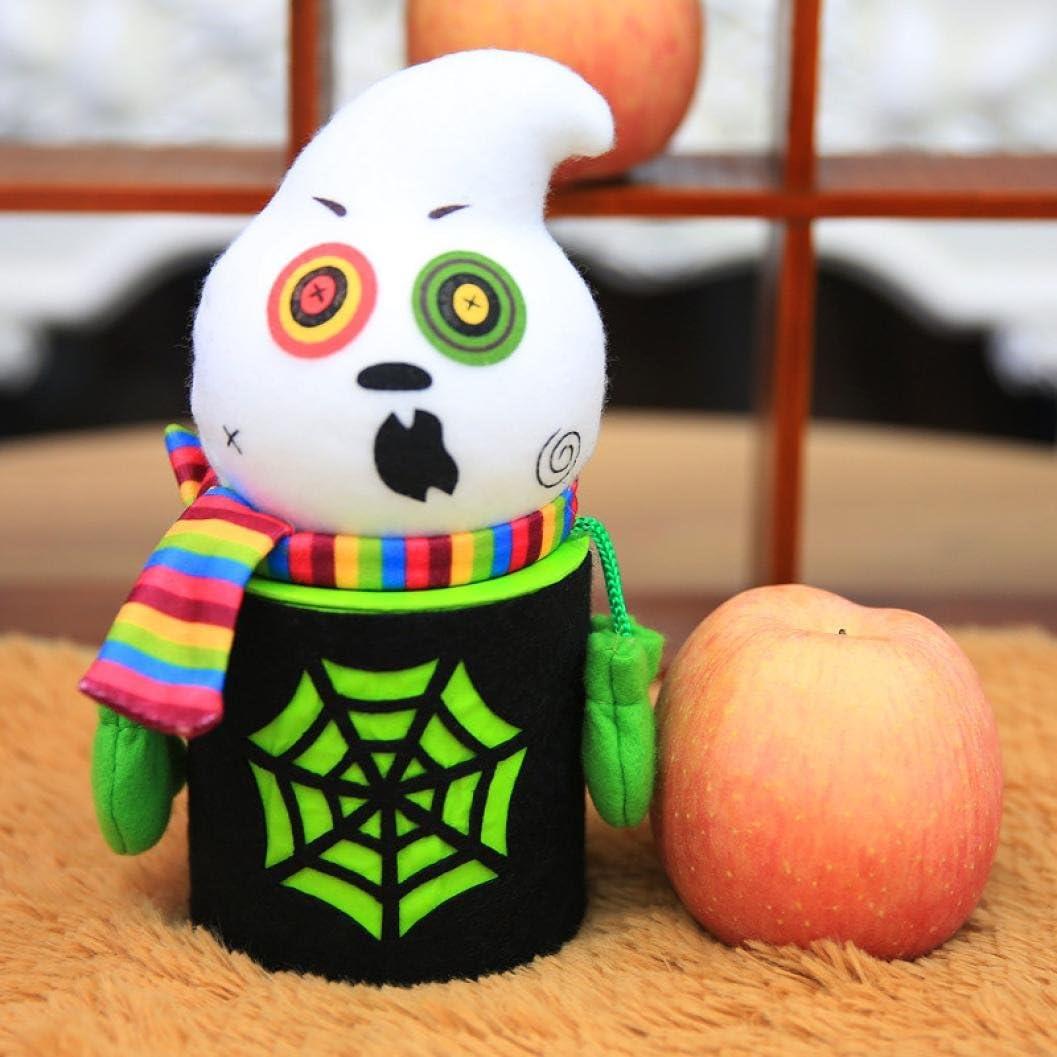 iLH mart Halloween Candy Jar ZYooh Can shipfree Novelty Puppet Box Decor