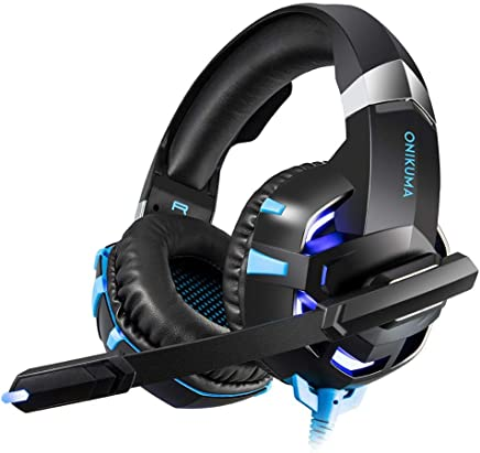 Là Vestmon Auriculares Gaming - ONIKUMA K2-A Micrófono Cascos Juegos Estéreo Reducción de Ruido para PS4/Xbox One/PC/Mac/iPad/Móvil, Enchufe Simple DE 3,5 mm + Cable Corto