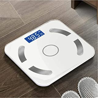 Smart Body Fat Weight Báscula Mi Báscula de baño Bmi Báscula Digital Human Weight Básculas de piso Bluetooth Balance Connect-white