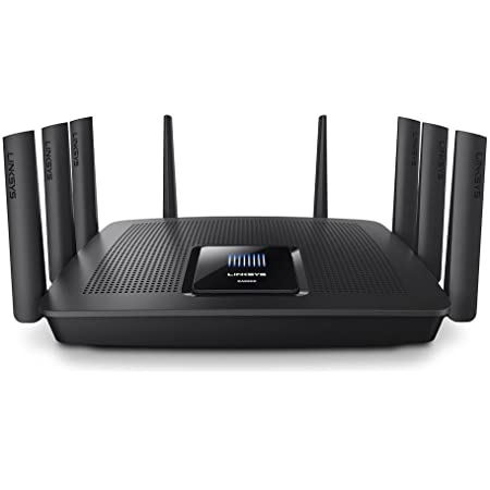 Linksys EA9500 Tri-Band Wi-Fi Router for Home (Max-Stream AC5400 MU-Mimo Fast Wireless Router), Black