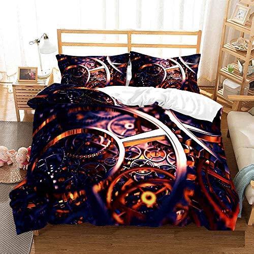 Bedclothes-Blanket Juego de Cama 150,Cama 3D Single Ropa de Cama Edredón Set Reloj de Tres piezas-180 * 210_dieciséis