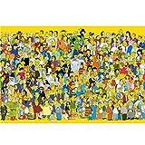 Wapipey Anime Simpson Puzzle de Madera para Adultos de la Inteligencia de la Inteligencia de la Inteligencia Puzzle Puzzle HD Impreso Poster Jigsaw Puzzle 300/500/1000 Pieces Home Puzzle Juego Puzzle