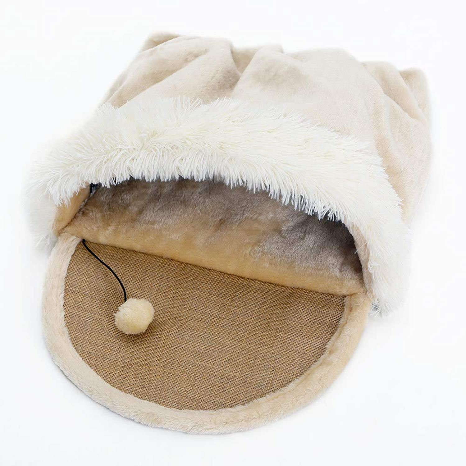 Cat Nest Mat Cat Scratch Board Kitten Bed House Grinding Claw Toys Sisal Fluff Cloth Funny Warm Training Pet Supplies