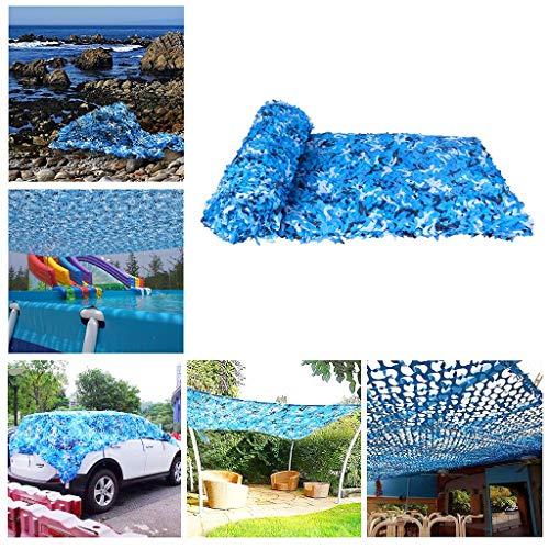 Outdoor Sunblock Nets Blue Camouflage Netting Camo Netting Sun Shade Netting for Kids Den Camping Army Hunting Hideen Garden Terrace Gazebo Balcony Pergola Decoration 2m 3m 4m 5m 6m 8m 10m