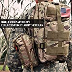 EVERLIT 250 Pieces Survival First Aid Kit IFAK Molle System Compatible Outdoor Gear Emergency Kits Trauma Bag for… 15 ✅【Exclusive 250 PCS First Aid Survival Kit Contained a Military Molle EMT Pouch】Uniquely customized by U.S military veterans, field tested by EX- Army Sergent, designed to get you well-prepared in an emergency situation. The kit combines 241 PCS First Aid Supply with 9 powerful Survival Gear into a Must-Have EDC emergency kit. ✅【Comprehensive First Aid Treatment Exceeds OSHA Guidelines For Single Family】The kit contains more than enough supply to treat a single family or a group of friends under emergency circumstances. Perfect for taking care of any medical or emergency needs during outdoor wilderness adventures such as camping, boy scouts, hiking, hunting and mountain biking, etc. ✅【Molle Compatible, Durable, Portable, and Water-Resistant】The military grade EMT bag was made from 1000D water-resistant nylon, it offers three large compartments and plenty of rooms to add your own gear. The overall dimension of the kit is 8'' x 6.5'' x 5'' and weight only 1.9 lbs. The molle compatible straps on the back allow the user to attach it to other bags or your belt, which made it a perfect companion for any outdoor activities.