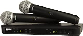 Shure BLX288/PG58 Dual Channel Handheld Wireless System with 2 PG58 Vocal Microphones, H10