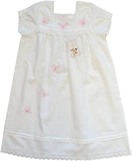 484b073412 Powell Craft Big Girls  Cotton Butterfly Nightdress nightgown.white