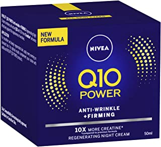 Q10 Power Anti-Wrinkle & Firming Night Cream, Formulated with Q10 & Creatine for all Skin Types