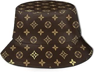 ELVg Unisex Classic Fisherman's Hat Print Bucket Hat UV Sun Protection Black