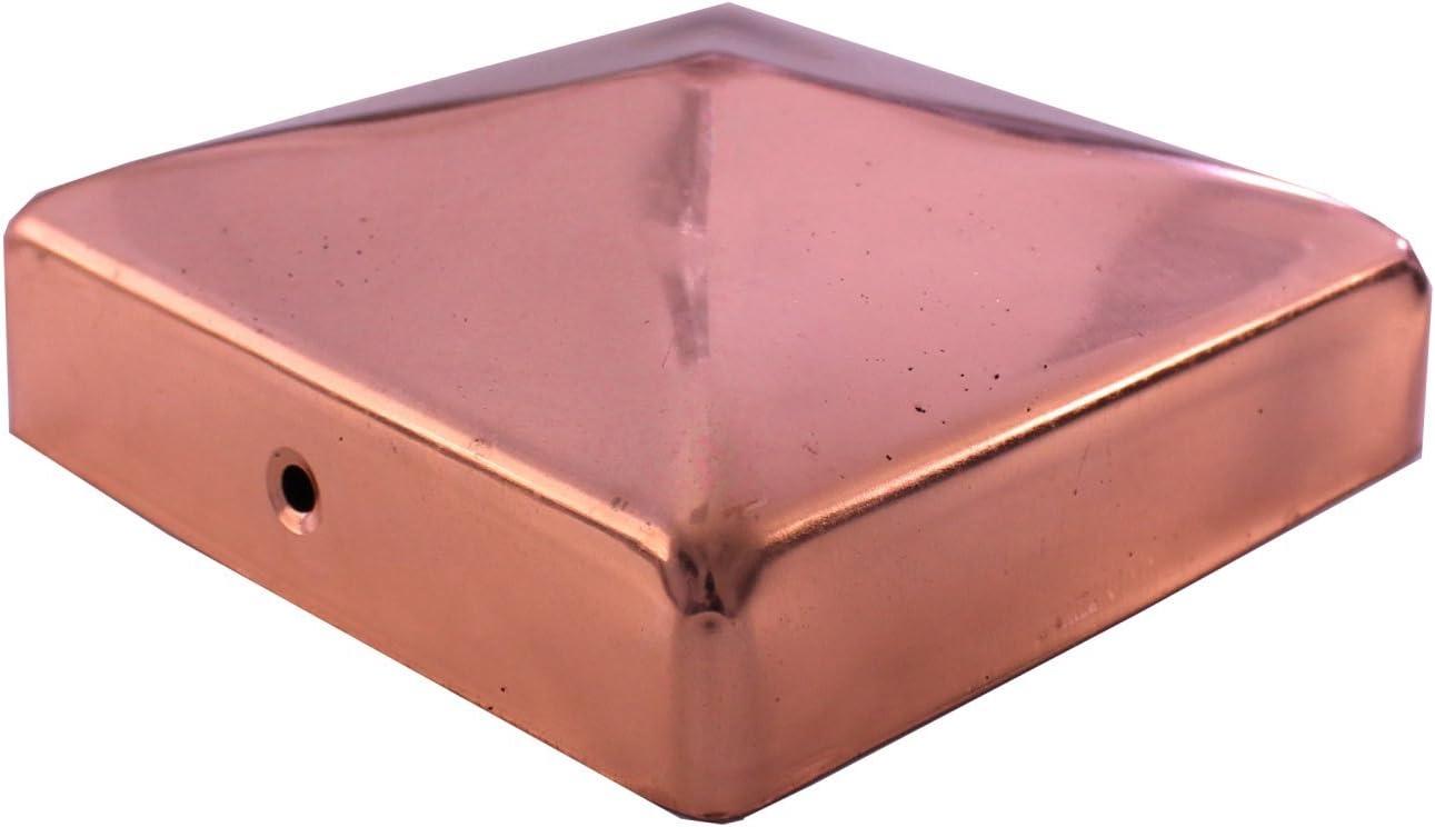 Pfostenkappen Zaunkappe Abdeckkappe Pyramide verzinkt 71 x 71 mm 6
