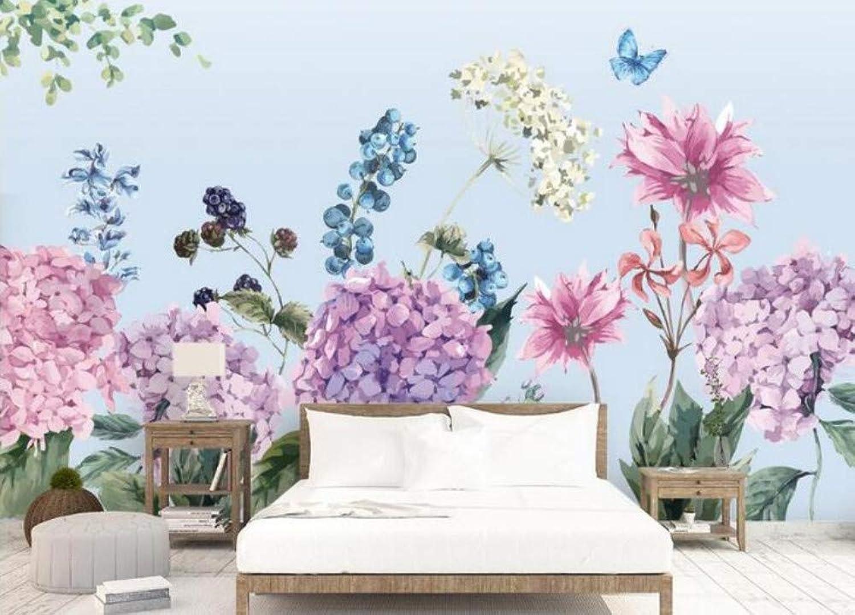 Envío rápido y el mejor servicio Mural Mural Mural 3D Papel Tapiz Hortensia Pastoral Flor Fondo Floral Murales De Papel Papel De Parojoe Papel Tapiz 3D, 200Cmx140Cm  barato