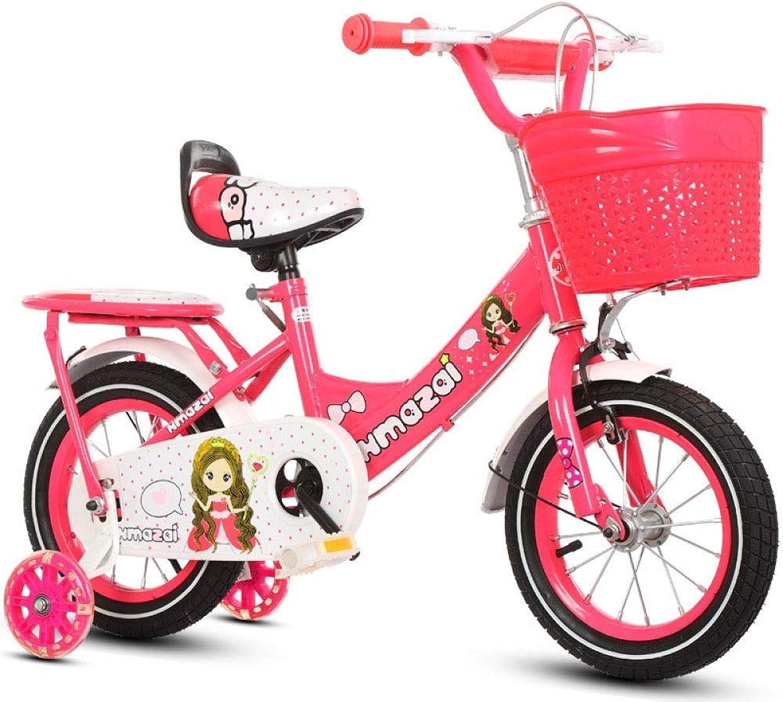 XHLJ Cartoon Fahrrad Prinzessin, 2-10 Jahre Alt, Mountainbike, Mit Korb, Licht (Farbe   B, gre   12 inch)