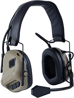 ATAIRSOFT Tactical Military Aviation Communication Waterproof Head-Mounted Headphones Headset Earphone with Sound Pickup &...