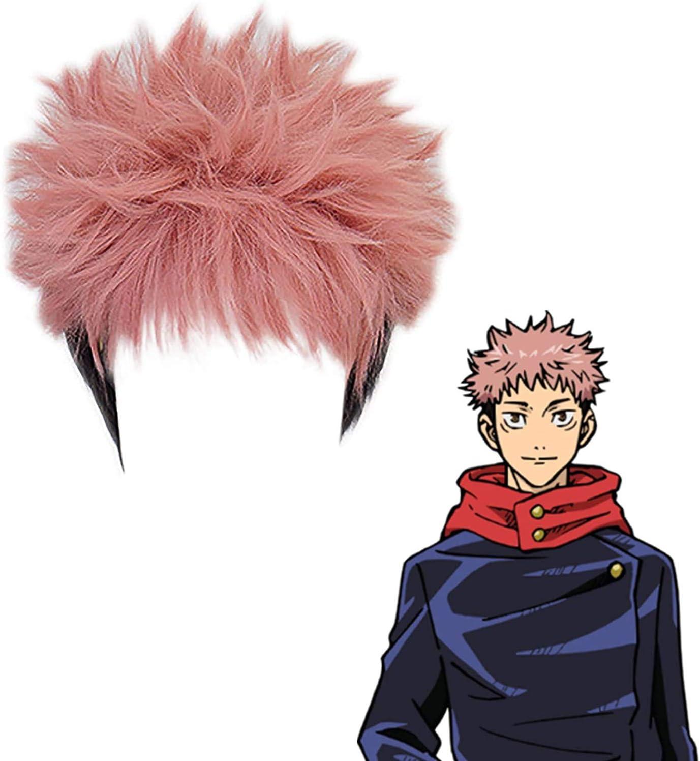 Anime Jujutsu Kaisen Giappone Anime Personaggio Nobara Kugisaki Cosplay Parrucche Accessorio Carino Parrucche per Ragazze Regalo per gli appassionati di Anime