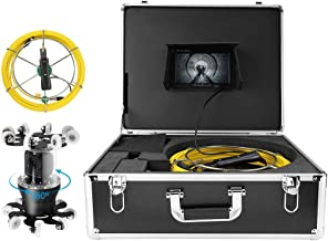 Underground Camera 7in 98.4ft 360 Degree Rotating WiFi Camera IP68 Pipe Inspection 38LED Endoscope Camera Waterproof 100-2...