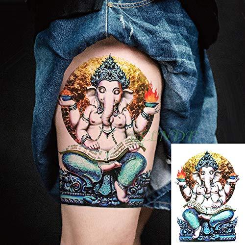Handaxian 3 Piezas Tatuaje de Flor de Pavo Real Tatuaje Fresco Tatuaje Cuerpo Arte Chica Mujer Hombre Tatuaje 3 piezas-14