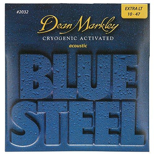 Dean Markley DM-2032-XL - Juego de cuerdas para guitarra acústica de acero.010 - .048