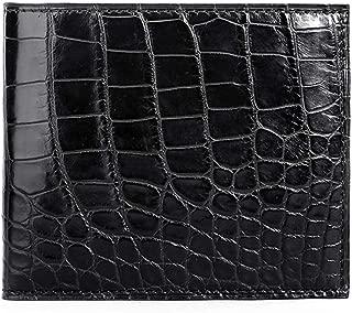 Men's Alligator Skin Wallet, Genuine Crocodile Skin Fold Wallet Extravagant Gift