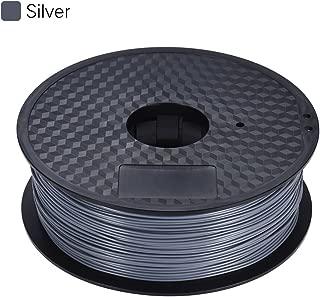 Color Optional PLA Filament 1kg/Roll 2.2lb 1.75mm for MakerBot Anet RepRap 3D Printer Pen Metallic Silver
