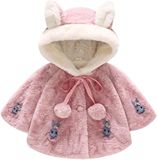 Baby Girl Winter Warm Coat,Jchen(TM) Infant Kids Baby Girls Long Sleeve Cute Rabbit Hooded Coat Warm Outerwear for 0-3 Y (Age: 2-3 Years Old, Hot Pink)