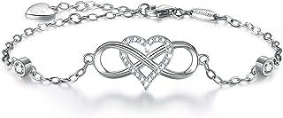 BlingGem Sterling Silver Bracelets for Women 925 in 18K...