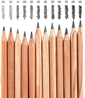 Drawing Painting Wood Pencil Sketch Pencil 12 Pencils Per Box (Set) 3H-2H-H-B-2B-3B-4B-5B-6B-7B-8B-9B