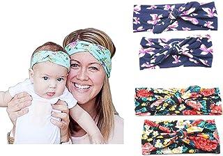 Boolavard Women Headband Boho Floral Style Criss Cross Fascia per capelli avvolgente