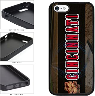 BleuReign(TM) Hashtag Cincinnati #Cincinnati Baseball Team TPU RUBBER SILICONE Phone Case Back Cover For Apple iPhone 5 5s