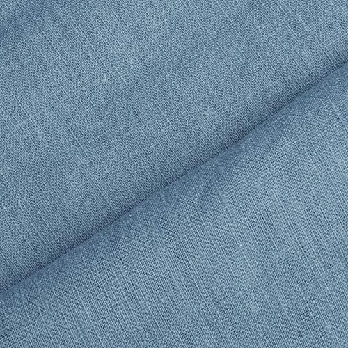 (8,99€/m) Holmar - tessuto lino prelavato industrialmente - stoffa al metro (azzurro svedese)