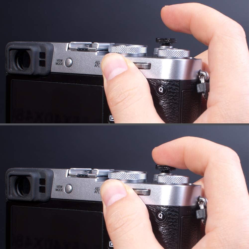 VKO Weichen Ausl/öseknopf Kamera-Taste geeignet f/ür Fujifilm X-T30 X-T20 X-T4 X-T3 X-T2 X-PRO3 X-PRO2 X100S X100T X100F X30 X-E3 X-E2S RX1R RX10 II III IV M10 Konkaver Oberfl/äche Golden 2 St/ück