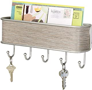 mail and key holder for wall