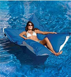 BABYBOOPER Swimming Pool Floating Bean Bag Cover Waterproof Reading Relaxing Soft Lounge Chair Sofa, Floating Bean Bag Cover, Swimming Bean Bag Cover (Blue)