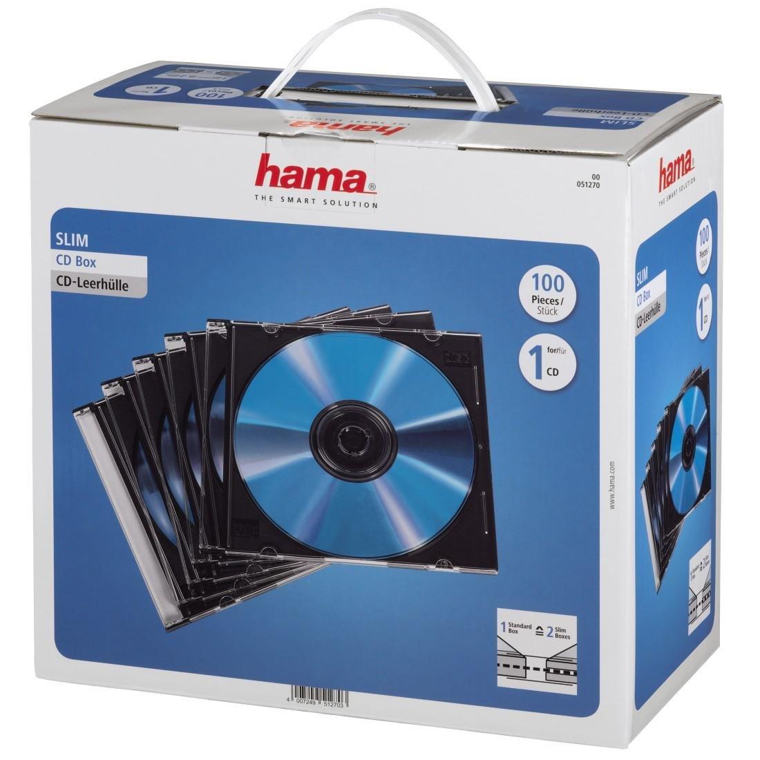Hama CD Slim Carcasa S, 100 Piezas: Amazon.es: Informática