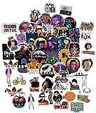 Paquete de Pegatinas 150 Pcs, Strangers Vinilos Graffiti Adhesivos Things Pegatinas Impermeable para Laptop/Coches/Bicicleta/Skateboard/Funda de Viaje/Equipaje de Coche (A)