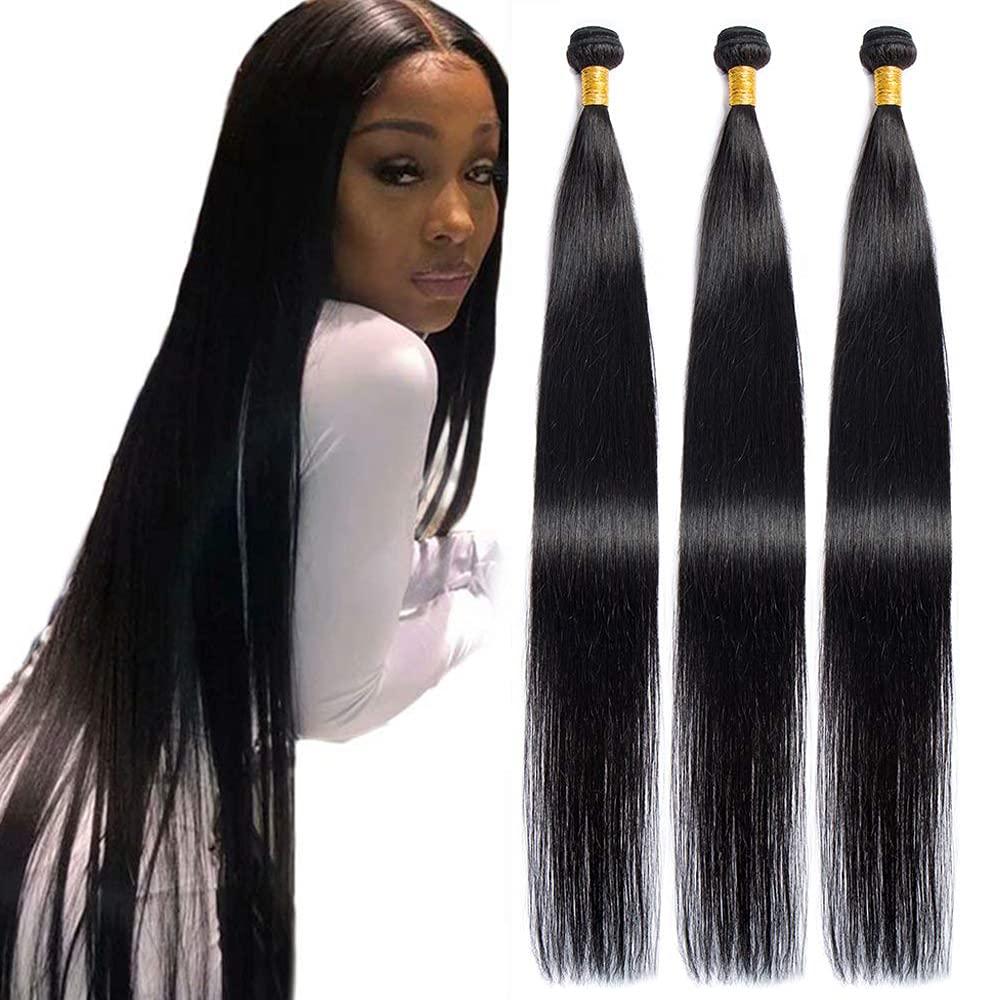Maxine Hair 10A Brazilian Virgin 3 Atlanta Mall Industry No. 1 10 Straight Bundles Long