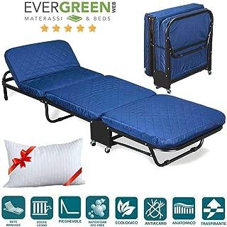 EVERGREENWEB-Cómoda cama Plegable de Invitados + Cama