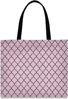 LUPINZ Damen Handtasche aus Segeltuch mit pinkem Hintergrund