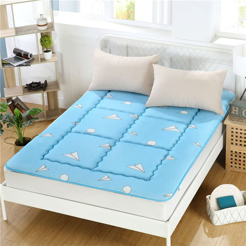 Double Mattress,1.8m Thicken Sponge Mats Tatami Simple Portable Sleeping Pad-J 120x200cm(47x79inch)