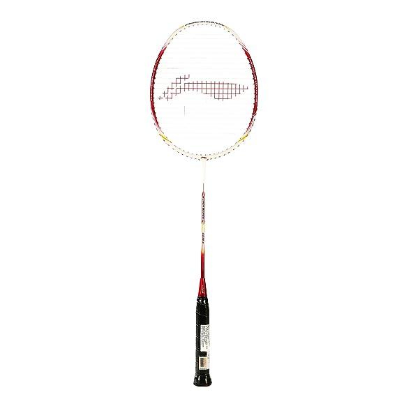 Li-Ning SS 88 III Badminton Racquet (Strung), S2 Grip Size, (White/Red)