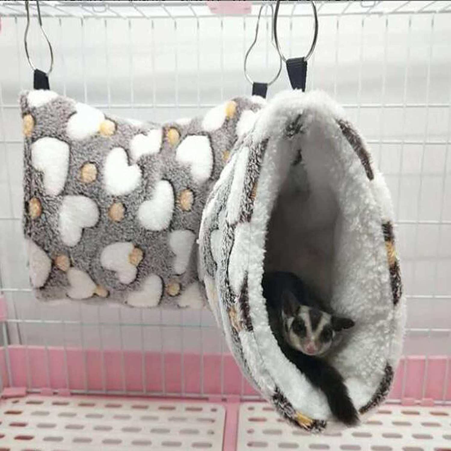 Small Fashionable Pet Cage Hanging Tunnel Bed Animals for Store