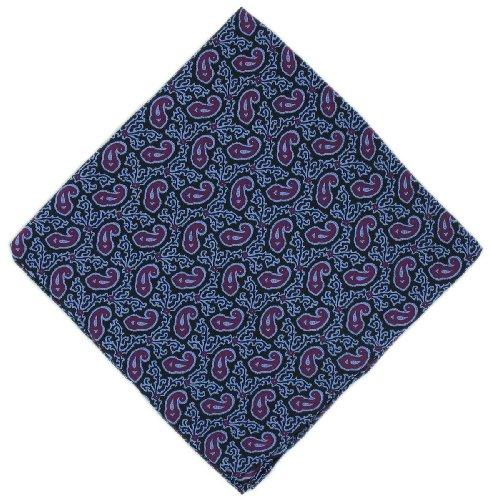 Mouchoir violet Petit Paisley Silk de Michelsons of London
