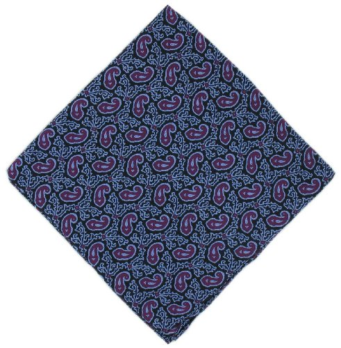 Mouchoir violet Petit Paisley Silk de Michelsons of London